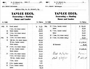 1961 Invoice Image